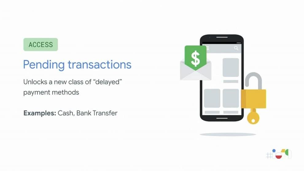 Pending transaction