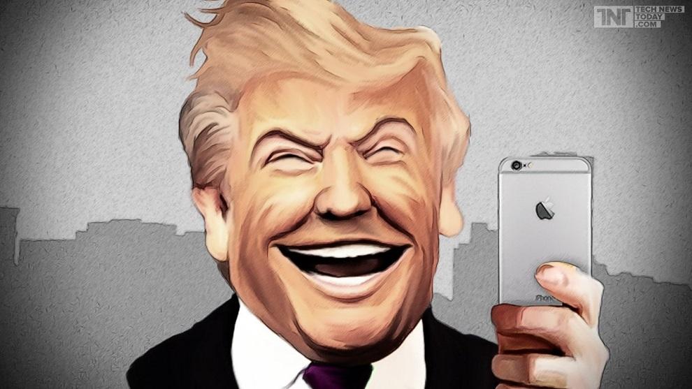 Donald Trump Apple Dessin