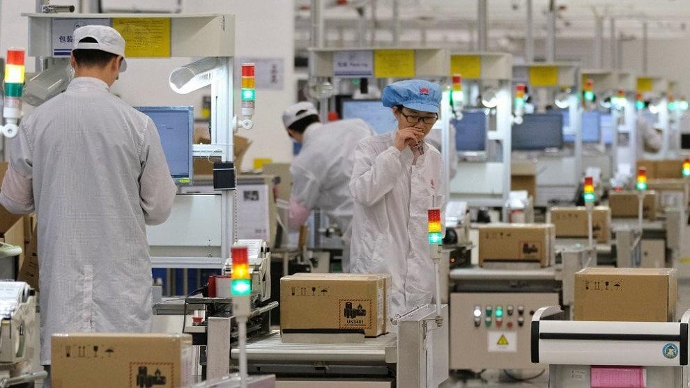 Huawei ligne de production