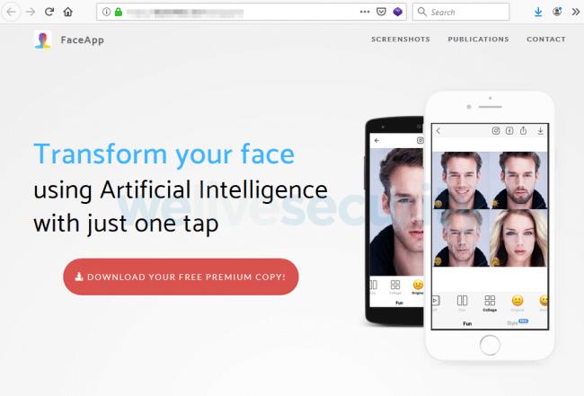 FaceApp Pro site