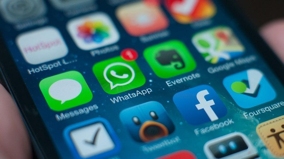 WhatsApp écran d'accueil