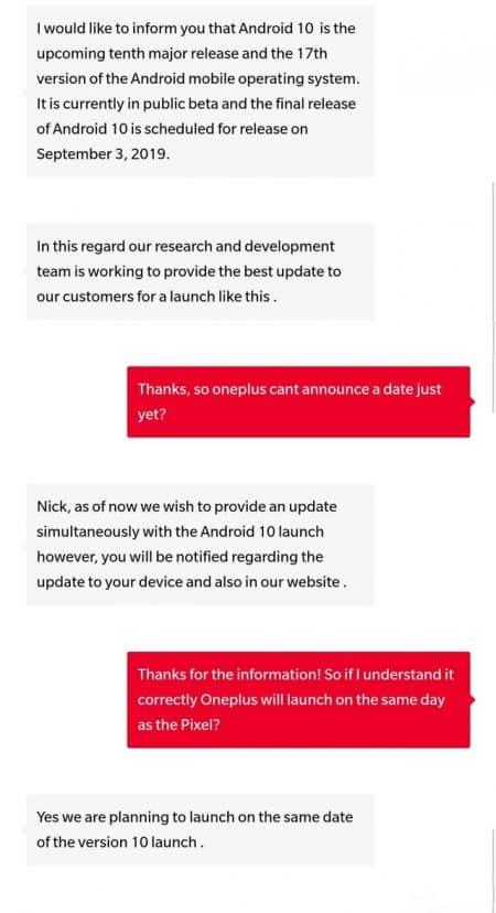 Conversation Reddit OnePlus