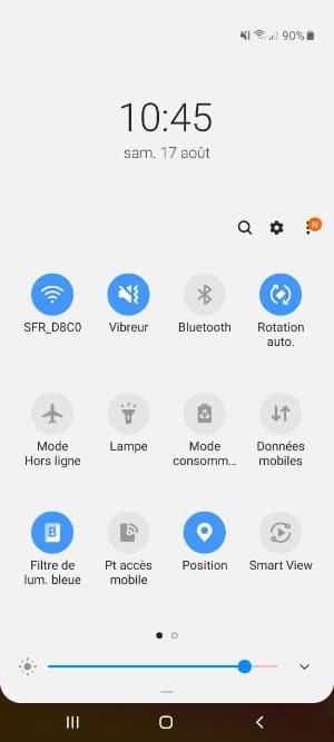 lumière bleue smartphone