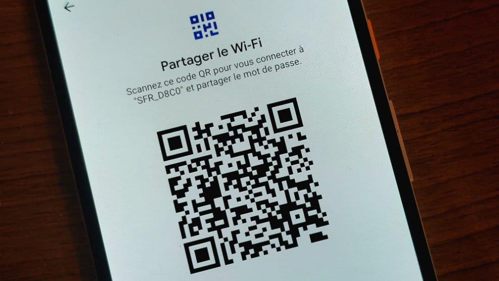 partage mot de passe wifi