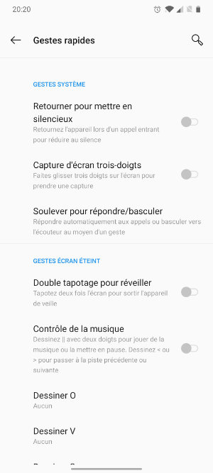 gestes android