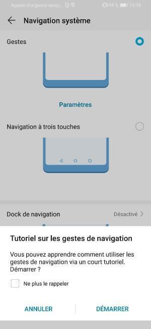 navigation geste