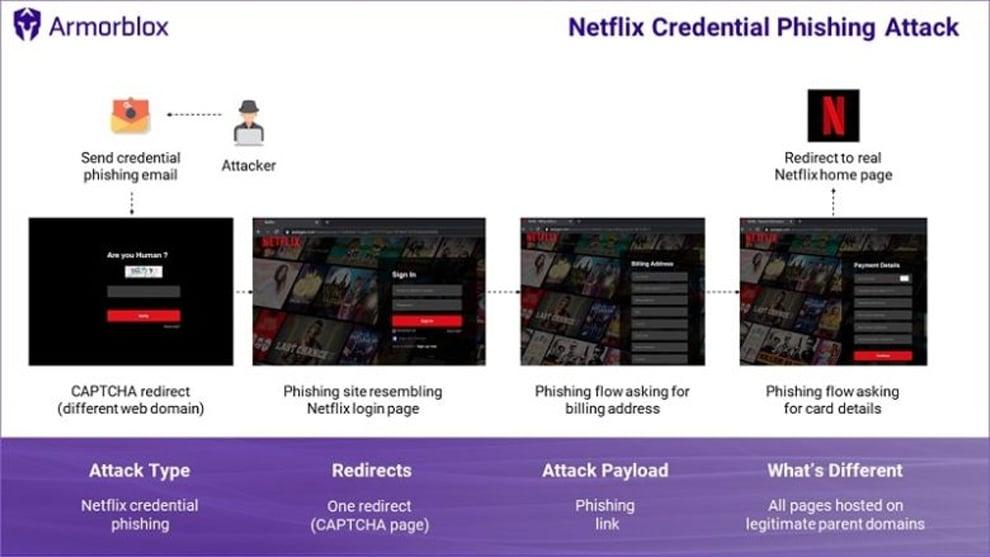 schema phishing netflix